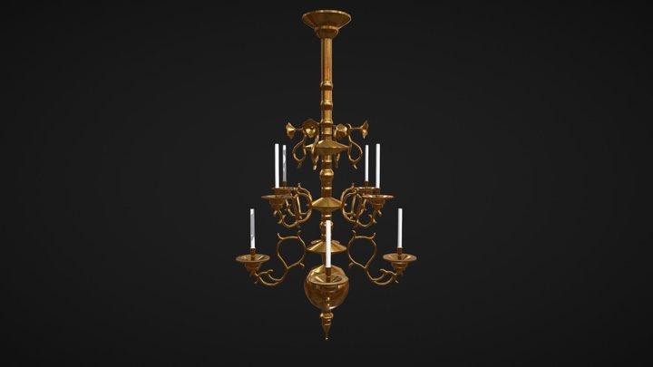 Chandelier lowpoly 3D Model