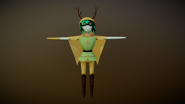 Huntress Wizard (Adventure Time) 3D Model