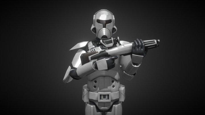 The Old Republic Trooper 3D Model