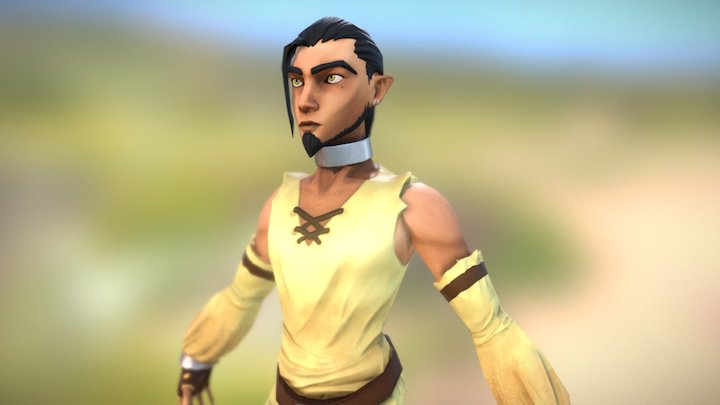 Chara Design 02 - Exotic elf 3D Model