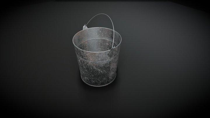 Bucket (Tin) 3D Model