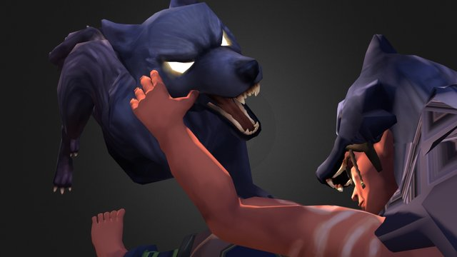 Wolf Attack 3D Model