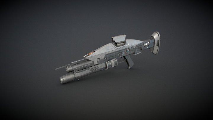 Sci Fi Assault Rifle 3D Model
