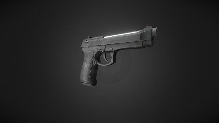 M9A1 Beretta 3D Model