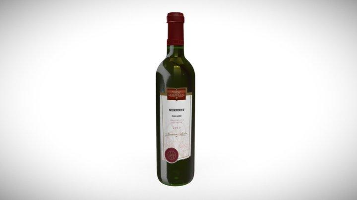 Bottle of Wine Neronet oak aged 3D Model