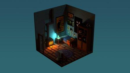 voxel bedroom 3D Model