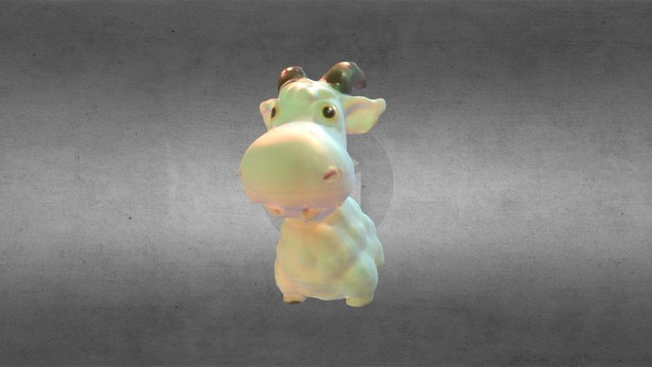 3dscanned Goat Puppet 3D Model