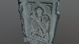 Carved stone panel (St George?), Hexham Abbey 3D Model