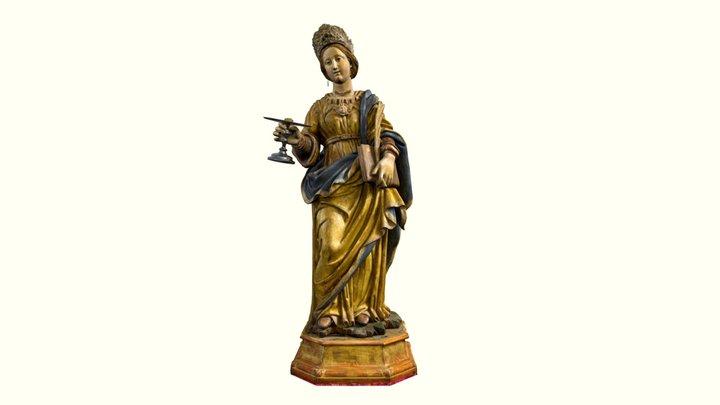 Statua di Santa Lucia, Pignola 3D Model