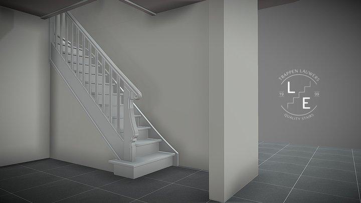 Twee trappen met een knipoog naar de jaren '20 3D Model