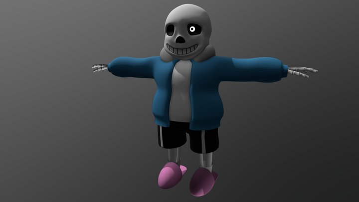 Undertale: Sans [T-Pose] 3D Model