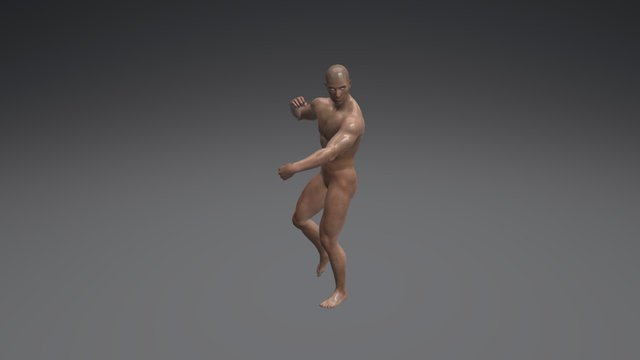 Male Standing Poses 001 (Muscular) 3D Model