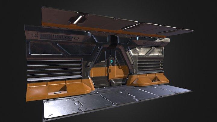 Sci Fi Environment Tile Set 3D Model
