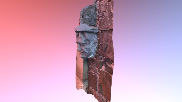 Carved detail at Abbotsford 3D Model