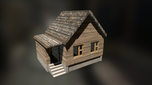 Voxel Country house 3D Model