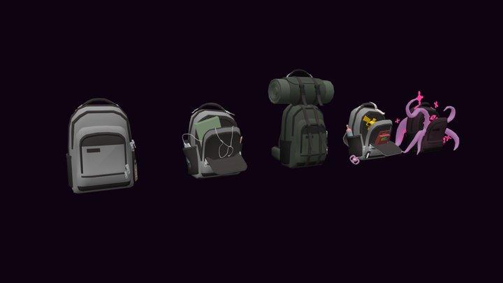 backpacks blockout homework 3D Model