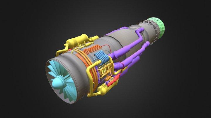 Airplane Engine 3D Model