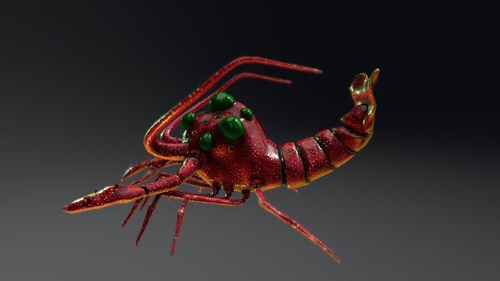 Lobster Monster - SideScroll Shooter Project 3D Model