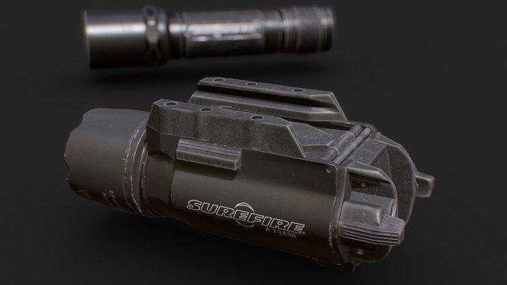 Surefire model X200 and 6P 3D Model