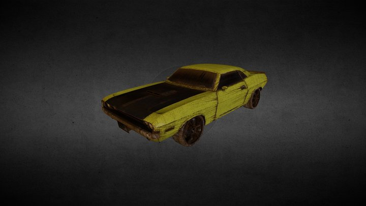 Dodge Challenger 70 Textured 3D Model