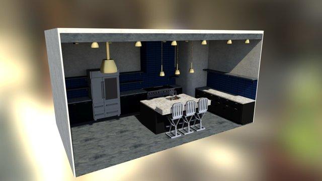 Stoneslab Kitchen 3D Model