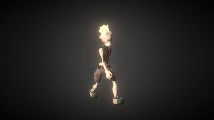 Walk Cycle Mr.Forge 3D Model