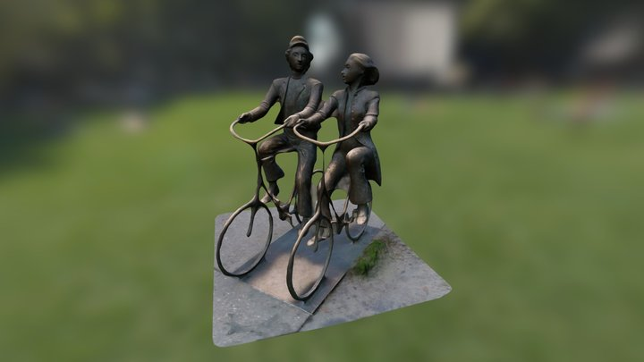 Two plus two equals Sculpture - Ver.2 3D Model