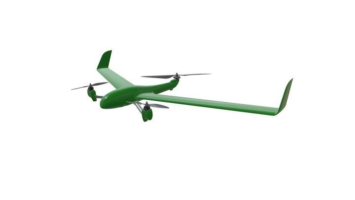 Flightwave Edge VTOL - MAPIR Kernel Camera [BG] 3D Model