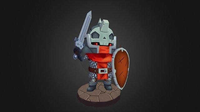 Skull Knight 3D Model