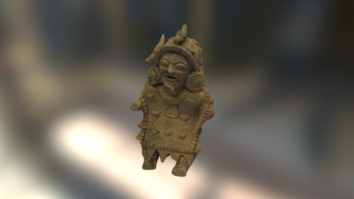 Ceramica Cultura Jama Coaque - Shaman 3D Model
