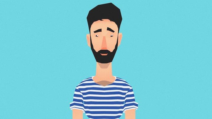 Roy Rachamim Portrait 3D Model