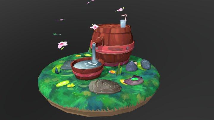 Small barrel 3D Model