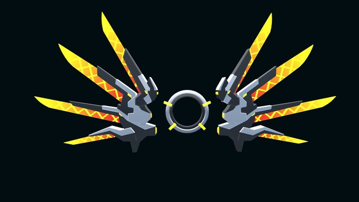 Mecha Wings 3D Model