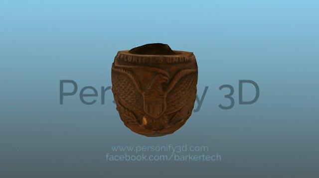Civil War era pipe from Andersonville Prison 3D Model