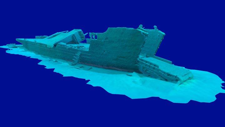 Goncalo Coelho Shipwreck / Artificial Reef 3D Model