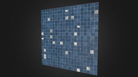 Tiled Wall - Procedural Material 3D Model