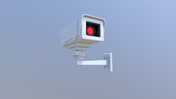 IP Security Camera 3D Model