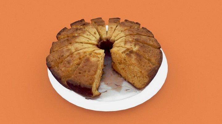 Orange Cake 3D Model