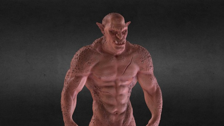 Shadow of Mordor / Warcraft inspired Orc! 3D Model