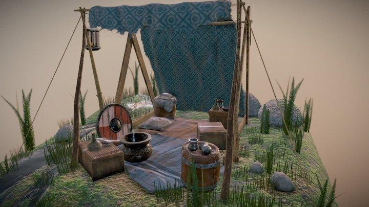 Medieval Camp 3D Model