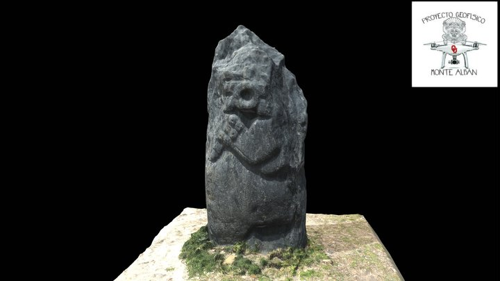 Carved stone stelea 3D Model