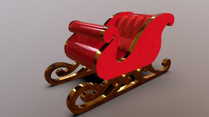 Santa's Sleigh 3D Model