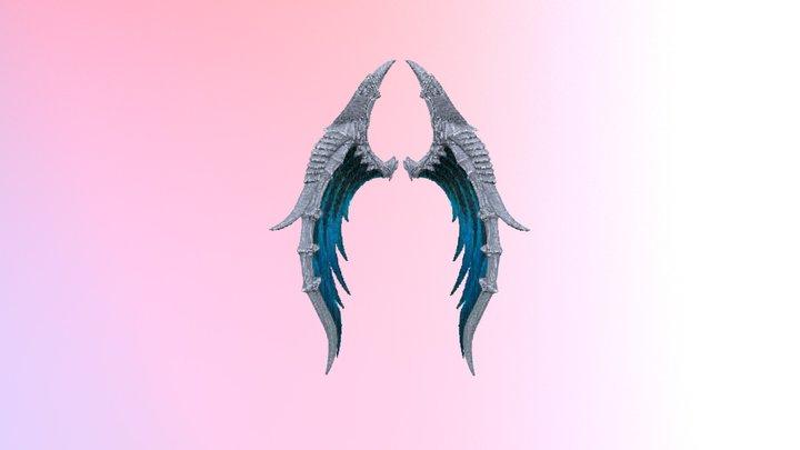 Dragon Wings Blue 3D Model