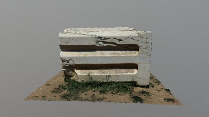 Triglyph from the Telesterion of ancient Eleusis 3D Model