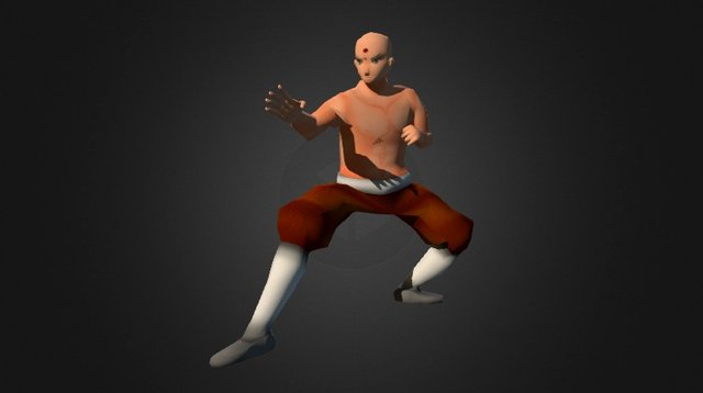 Kung Fu Master 3D Model