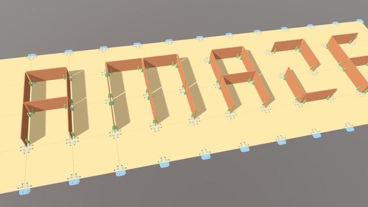 AMAZE組裝圖 3D Model
