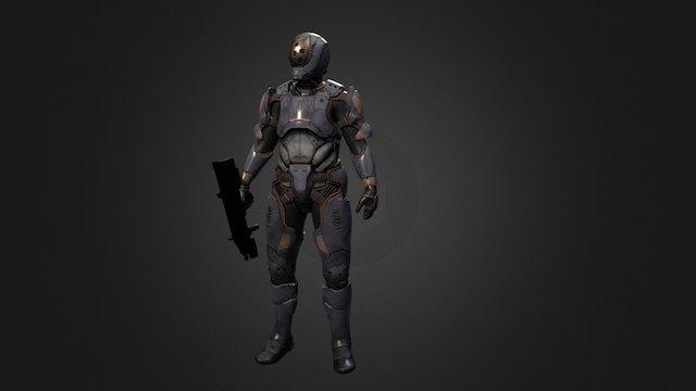 Sci-Fi Recon - Concept By Ariel Perez 3D Model