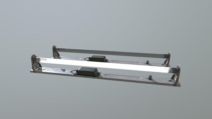 Fluorescent light 3D Model