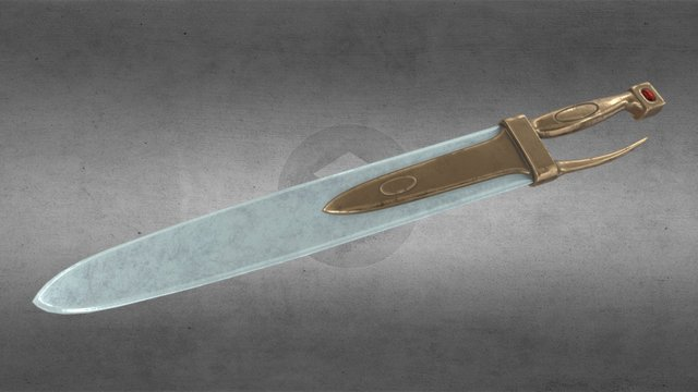 Nausicaa's Ceramic Blade 3D Model