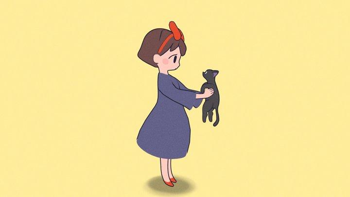 Kiki from Ghibli - Kiki's delivery service 3D Model